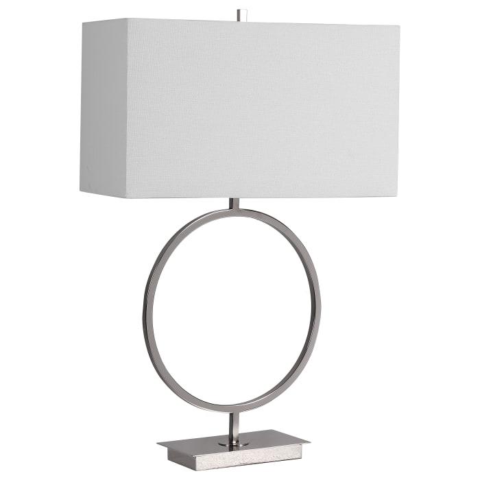 Ring Shaped Base Lamp with Rectangular Shade