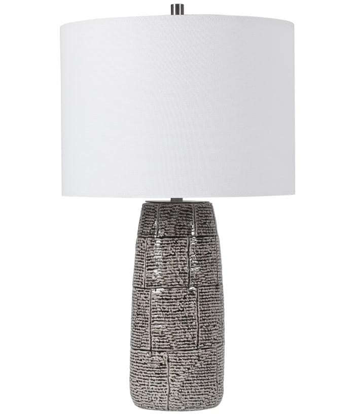 Brick Pattern Ceramic Lamp with Shade