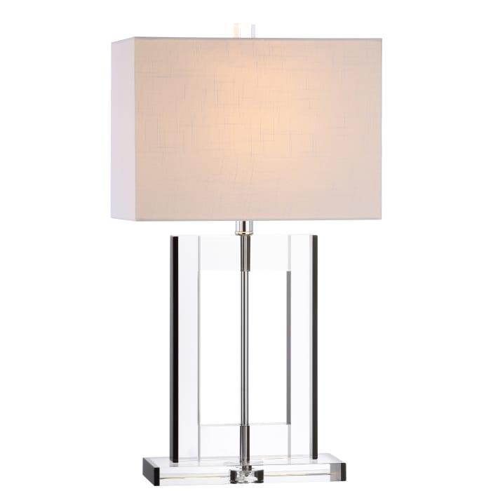 Crystal LED Table Lamp, Clear/Black