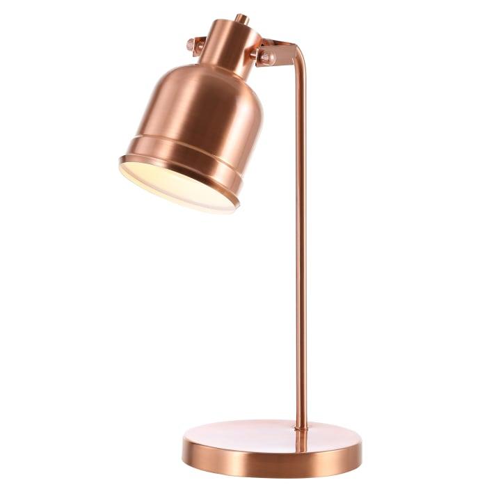 Metal LED Task Lamp, Copper