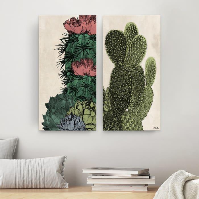 Poetic Flora Set IV Multicolored 2-Pc Canvas Wall Art Set