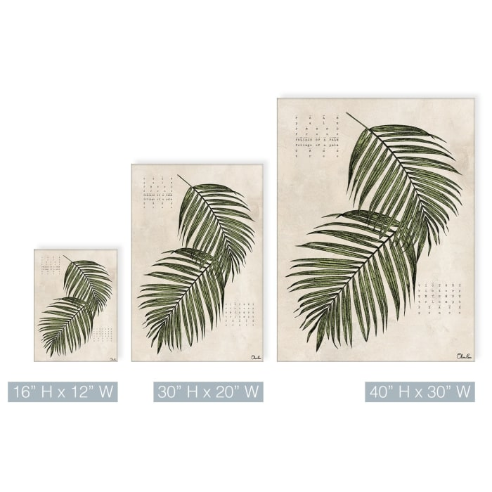 Poetic Flora XVII Beige Canvas Botanical Wall Art