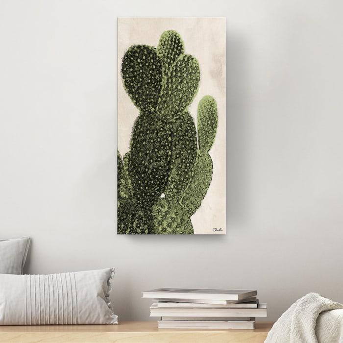 Poetic Flora XXII Green Canvas Succulent Wall Art