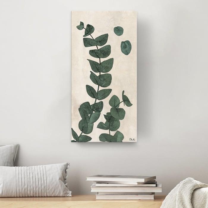 Poetic Flora XXIV Green Canvas Botanical Wall Art