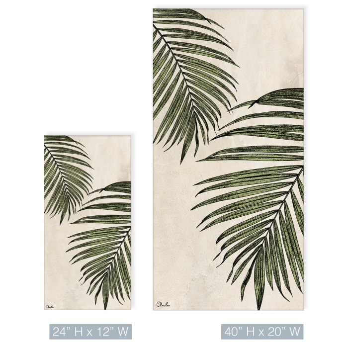 Poetic Flora XXIX Beige Canvas Botanical Wall Art