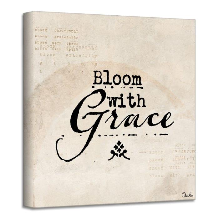 Poetic Flora XXXVII Beige Canvas Textual Wall Art