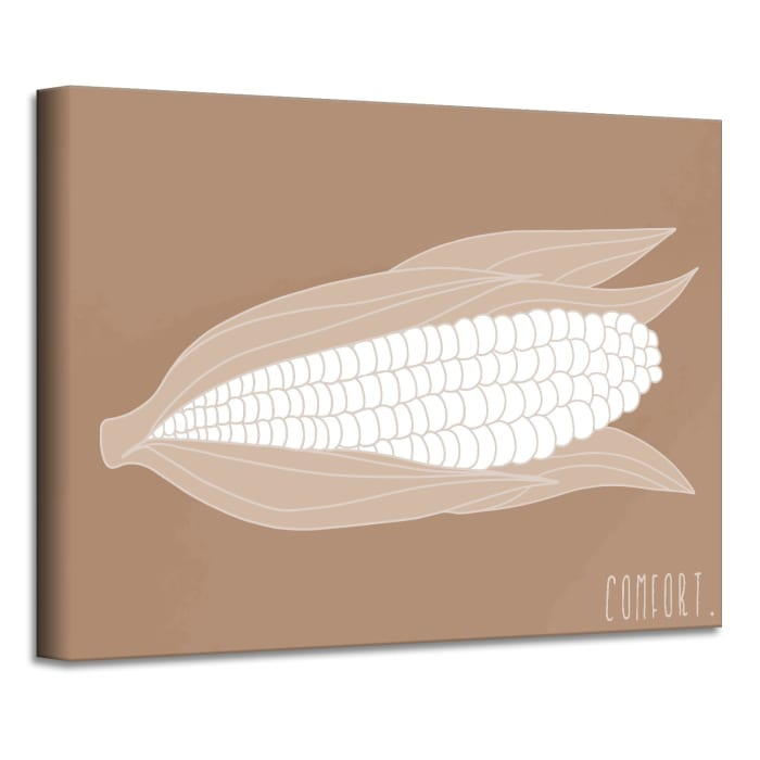 Minimal Corn Fall Havest Brown Canvas Wall Art