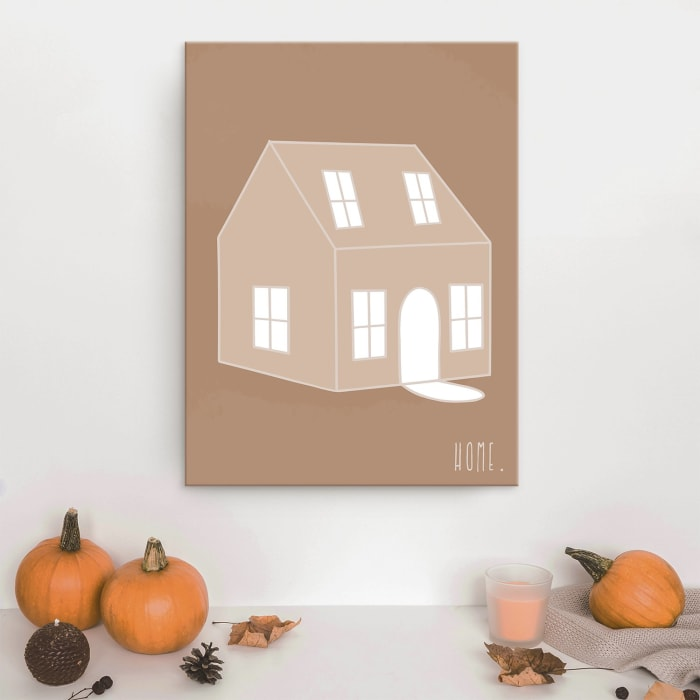Minimal Home Fall Havest  Brown Canvas Wall Art