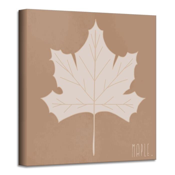Minimal Leaf I Fall Harvest Canvas Wall Art