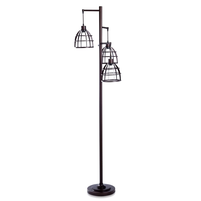Niki Three Tier Metal Caged Floor Lamp