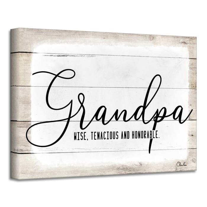 Admiration Canvas Textual Wall Art - Grandpa