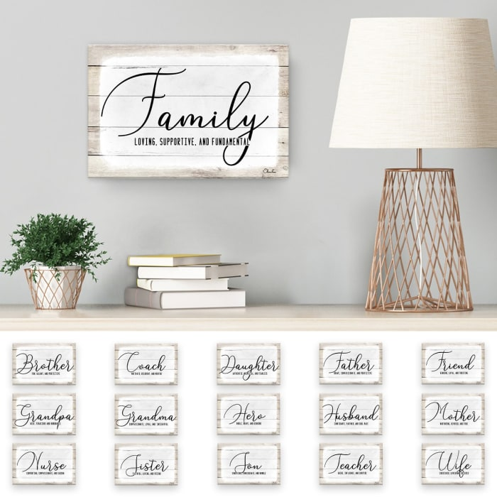 Admiration Canvas Textual Wall Art - Wife