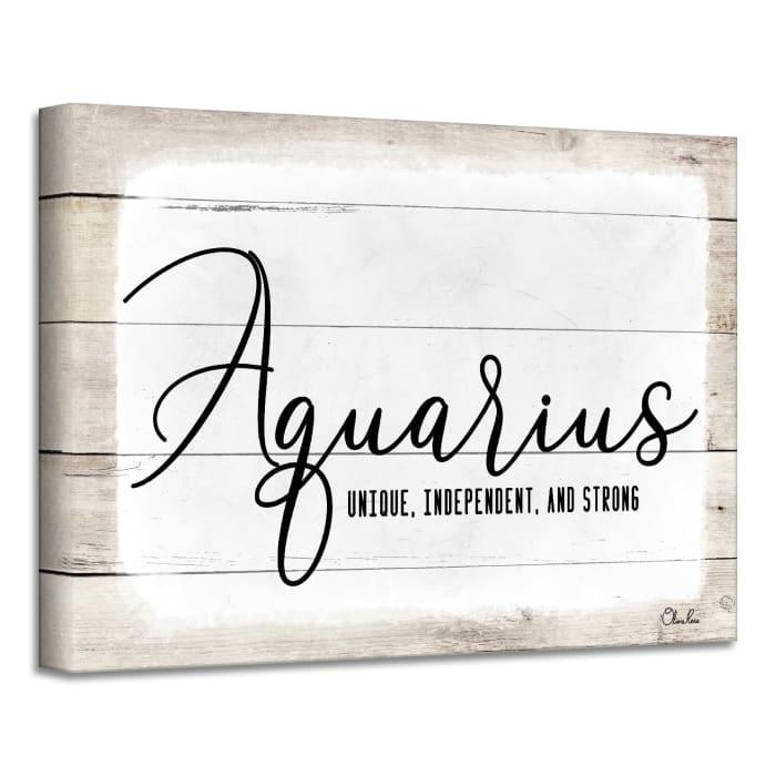 Zodiac Canvas Textual Wall Art - Aquarius