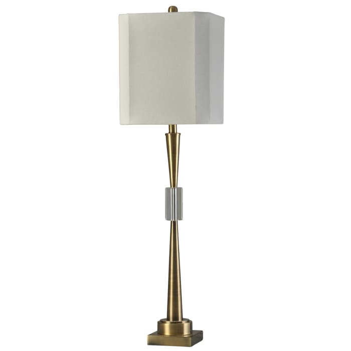 Antique Brass, Clear Table Lamp