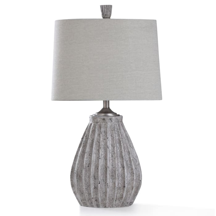 Arther Stone Gray Stone Painted Resin Table Lamp