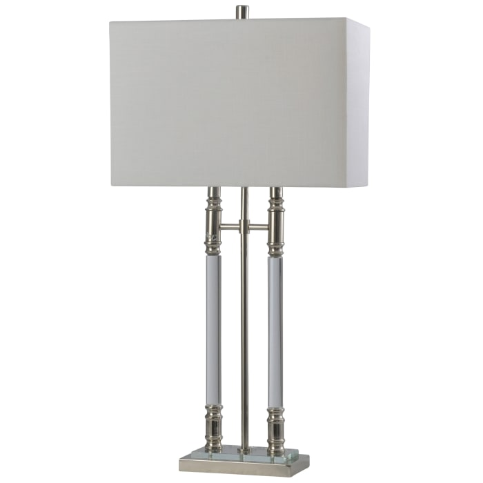 Clear, Chrome Table Lamp
