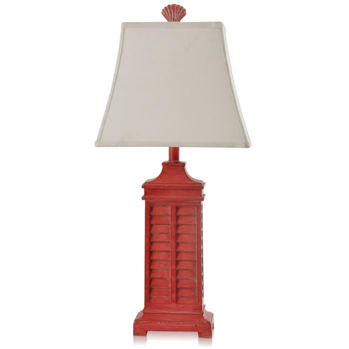 Sebastian Weathered Red Table Lamp