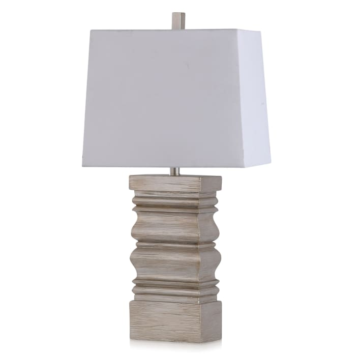 Theodore Transitional Silver Leaf Table Lamp