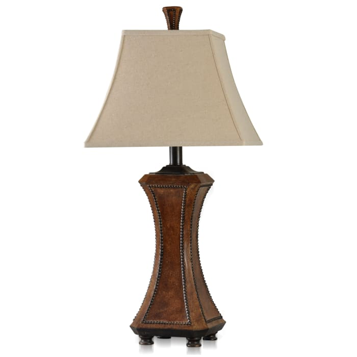 Archer Brown with Black Nailheads Table Lamp