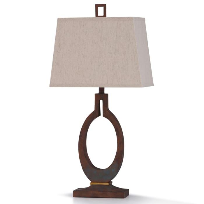 Braunstone Brown Patina Stone Resin Table Lamp