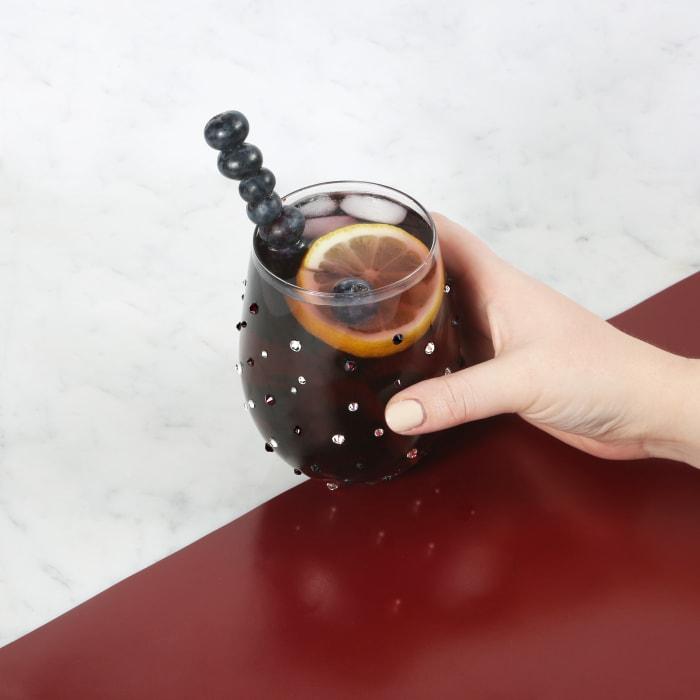 Amethyst - Gemstone Stemless Glass