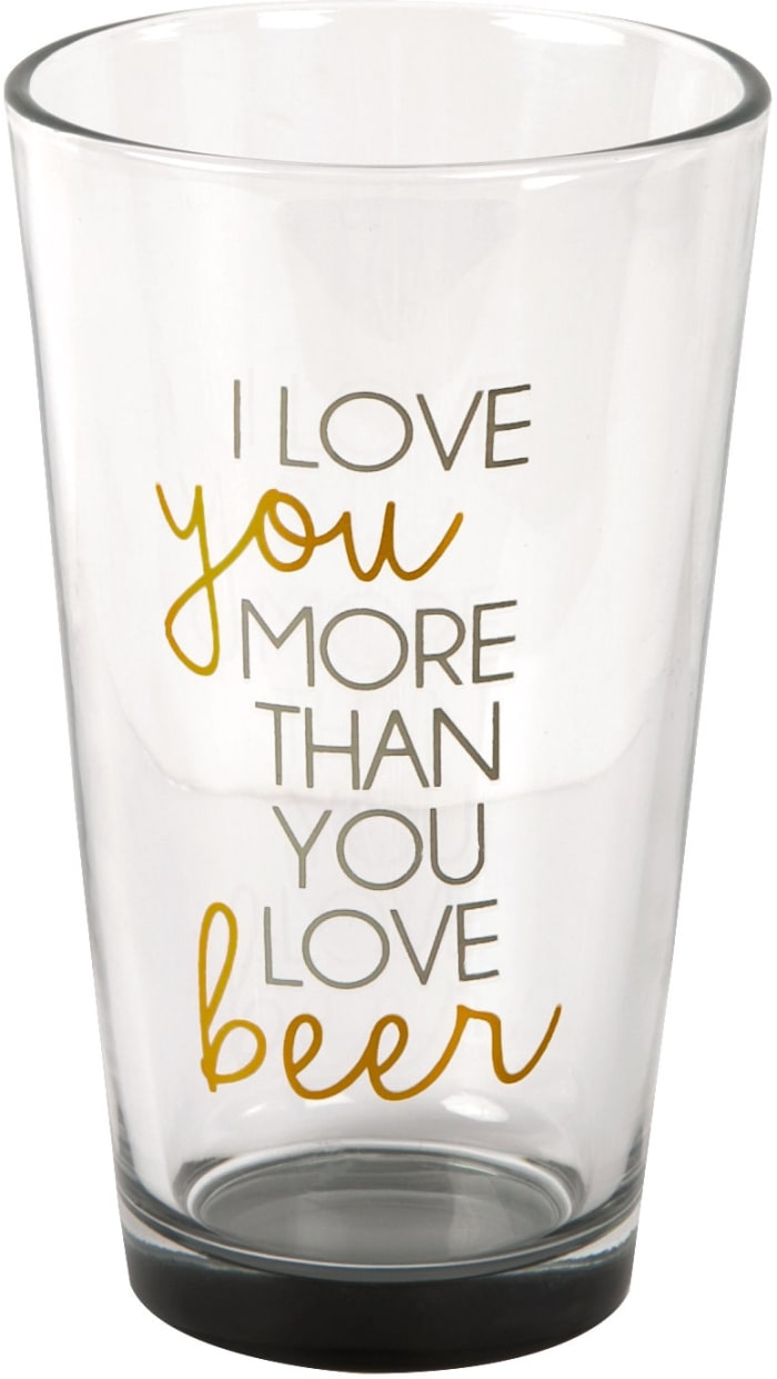 Love You Beer Pint Glass Tumbler
