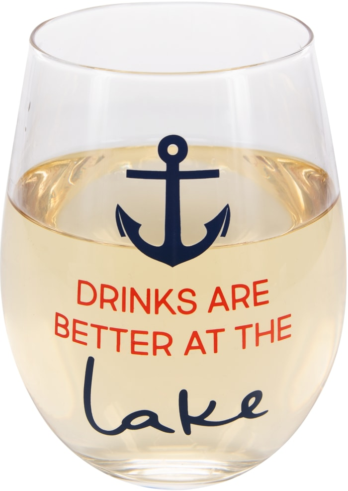 Better at the Lake - Stemless Wine Glass