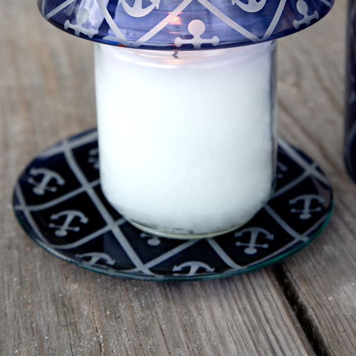 Blue Anchor - Candle Tray