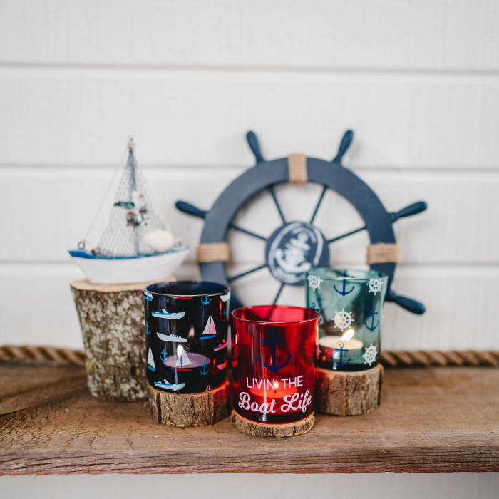Boat -  3 Assorted Votive Holders