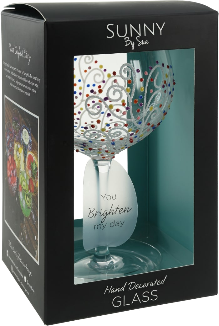 Colorful Swirls - Hand Decorated Glass