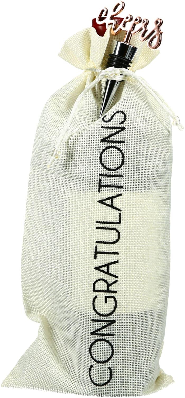 Congratulations - Wine Gift Bag Set
