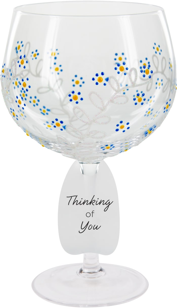 Forget Me Not - Hand Decorated Glass