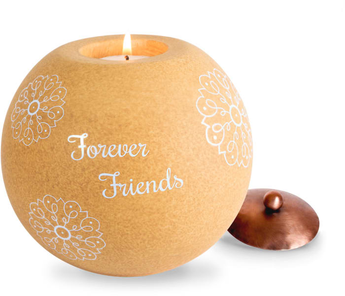 Friend - Round Candle Holder