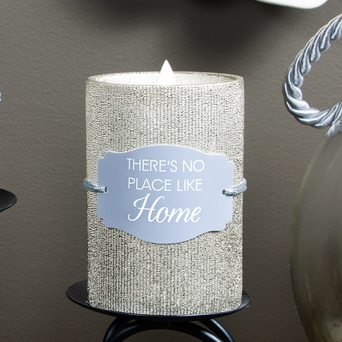 Home - Gold Glitter Realistic Flame Candle