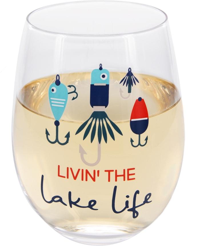 Livin' the Lake Life - Stemless Wine Glass