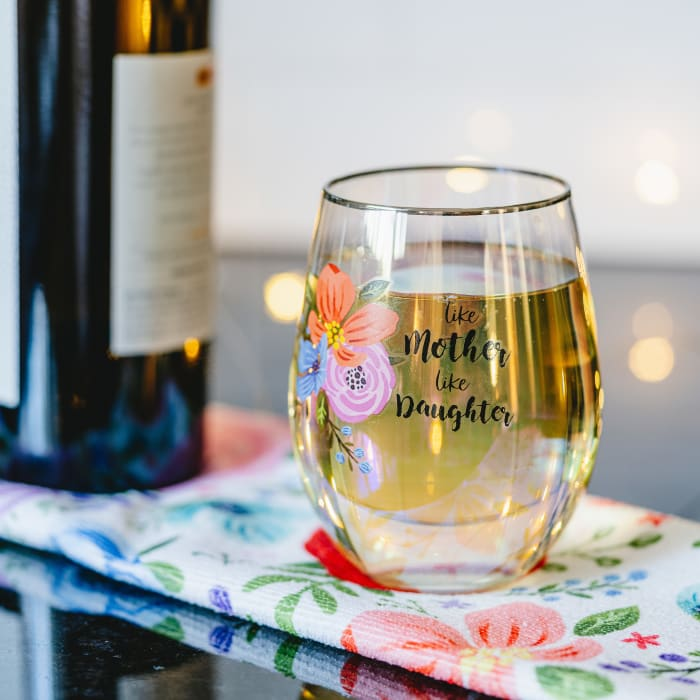 Mother Daughter - Stemless Wine Glass