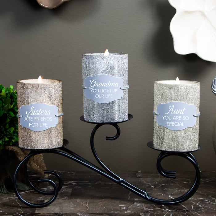 Sister - Bronze Glitter Realistic Flame Candle