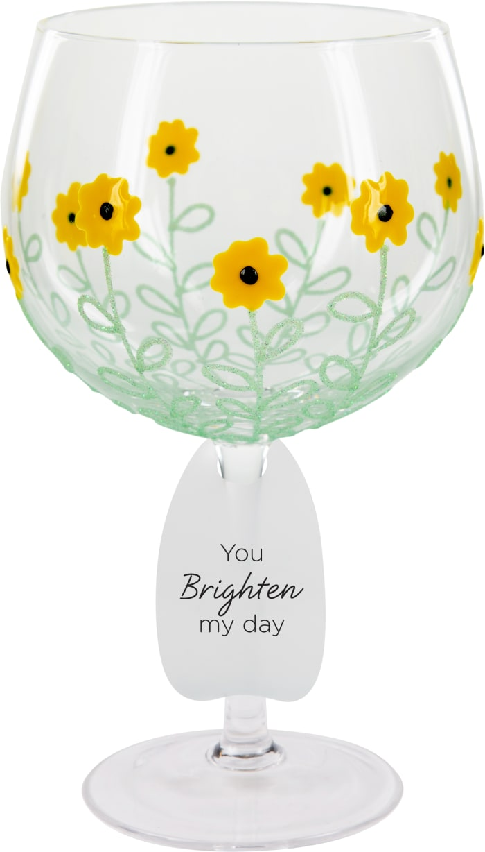 Sunflowers - Hand Decorated Glass