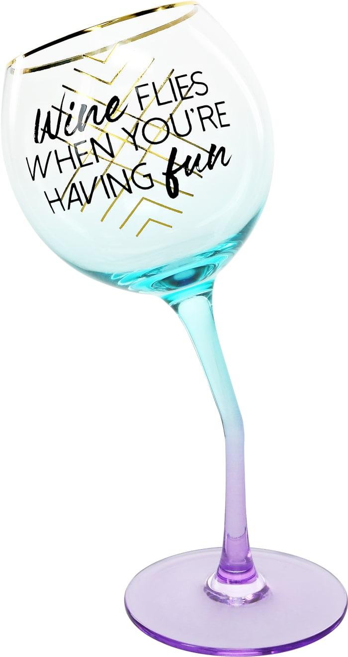 Wine Flies - Tipsy Stemmed Wine Glass
