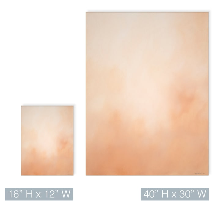 Underwater Clouds XIX Orange Modern Coastal Canvas Wall Art
