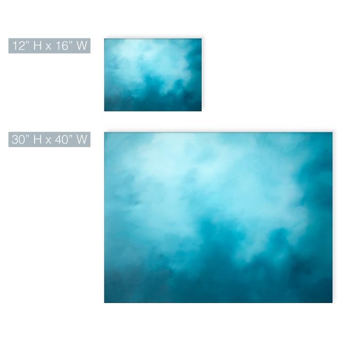Underwater Clouds XV Teal Modern Coastal Canvas Wall Art