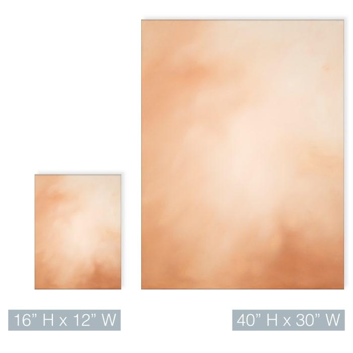Underwater Clouds XVII Orange Modern Coastal Canvas Wall Art