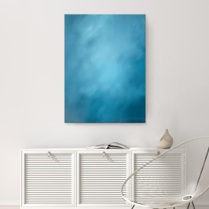 Underwater Clouds XX Blue Modern Coastal Canvas Wall Art