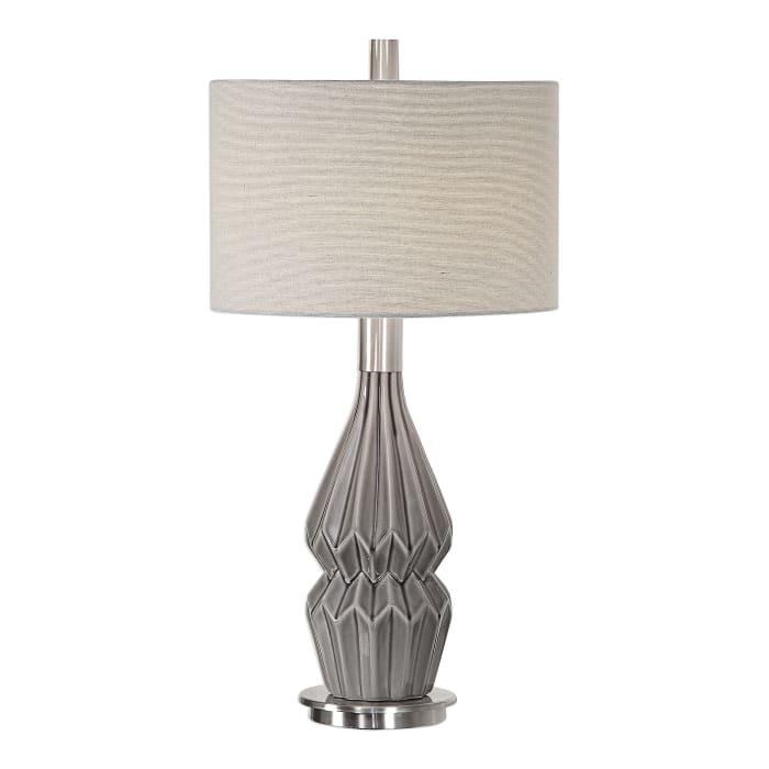 Unique Design Charcoal Gray Ceramic Lamp