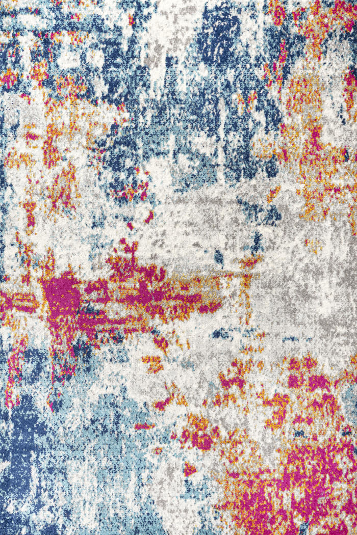 Sunset Modern Abstract Blue/Multi 5' x 8' Area Rug