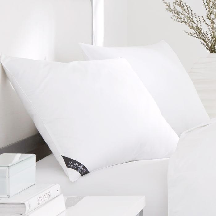 White Standard Queen Medium Pillow Pair