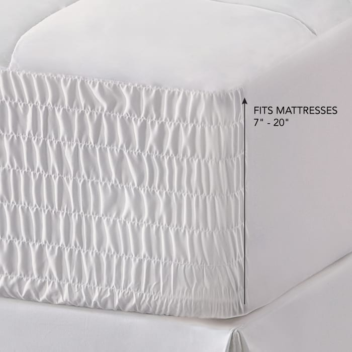 White Full Mattress Topper