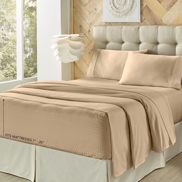 Taupe King 4Pc. Sheet Set