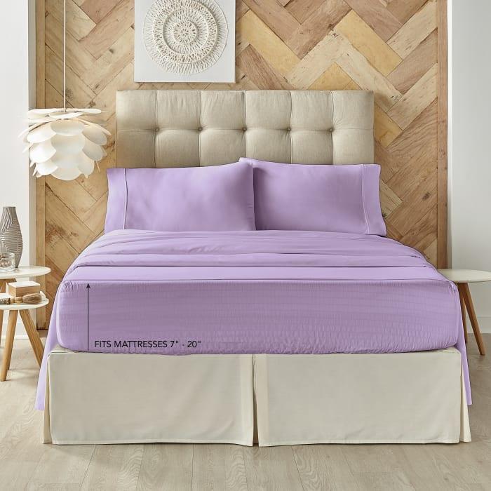 Lilac King 4Pc. Sheet Set