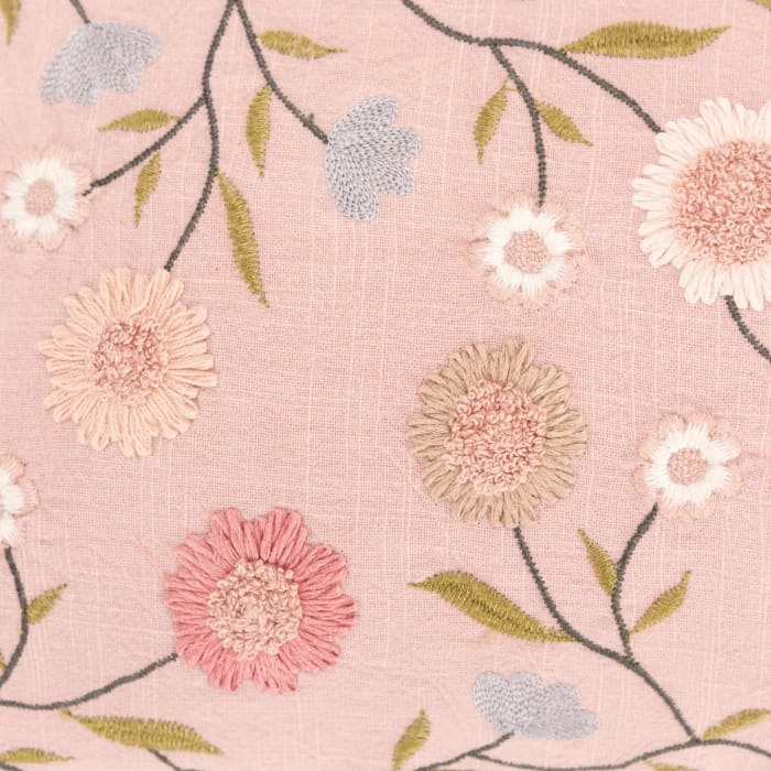 Floral Pink Pillow Cover
